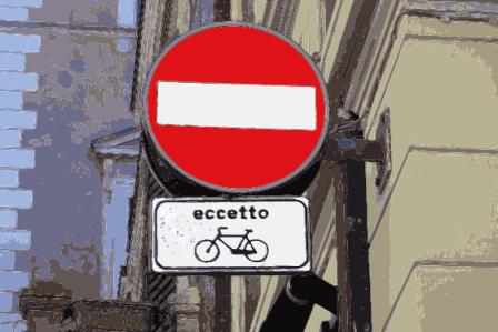 divieto eccetto bici