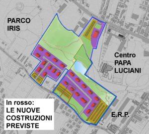Progetto nuove edificazioni zona Iris - ipotesi A